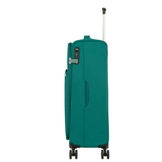 American Tourister Lite Ray 69 cm Valise Trolley 4 Roues Forest Green profil