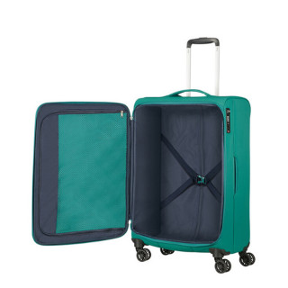 American Tourister Lite Ray 69 cm Valise Trolley 4 Roues Forest Green ouvert