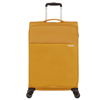 American Tourister Lite Ray 69 cm Valise Trolley 4 Roues Golden Yellow face