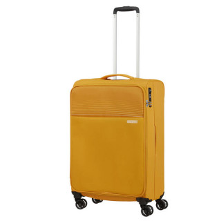 American Tourister Lite Ray 69 cm Valise Trolley 4 Roues Golden Yellow profil