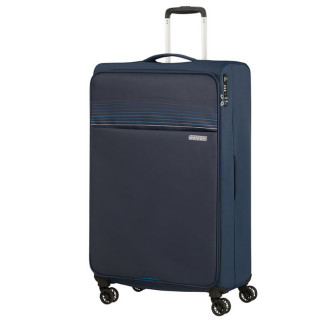 American Tourister Lite Ray 81 cm Valise Trolley 4 Roues Midnight Navy face