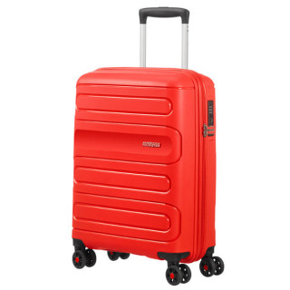 American Tourister Sunside Spinner 55 cm Valise Cabine Trolley 4 Roues Sunset Red