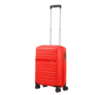American Tourister Sunside Spinner 55 cm Valise Cabine Trolley 4 Roues Sunset Red face 2