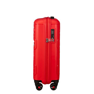 American Tourister Sunside Spinner 55 cm Valise Cabine Trolley 4 Roues Sunset Red profil