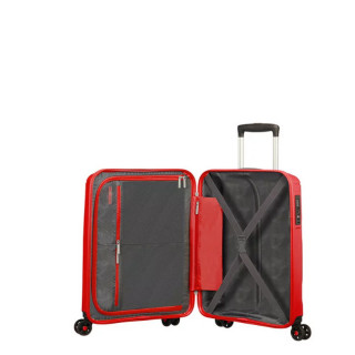 American Tourister Sunside Spinner 55 cm Valise Cabine Trolley 4 Roues Sunset Red ouvert