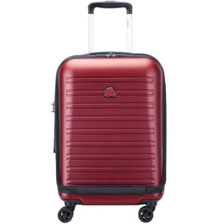 Delsey Segur 2.0 Valise Trolley Cabine Extensible 4 Roues 55 cm Rouge