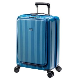 """Jump Tanoma Valise 4 roues cabine Business 55 cm pour Pc 14"""" Bleu Petroile cote"""