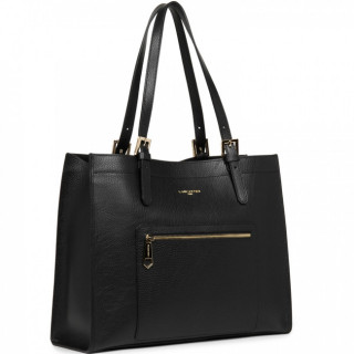Lancaster Foulonne Double Grand Sac Cabas 470-24 Noir in Nude