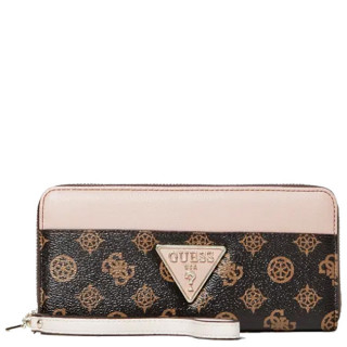 Guess Kamryn Compagnon Large Zip Around Brown Blush