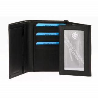 Portefeuille homme cuir noir RFID