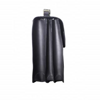 Cartable business pour homme en cuir couleur noir