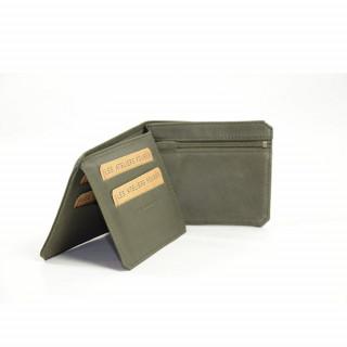 Portefeuille en cuir pour homme couleur vert