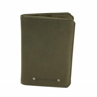 Grand portefeuille en cuir pour homme couleur bronze/vert