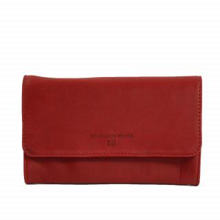 Portefeuille pour femme en cuir couleur rouge