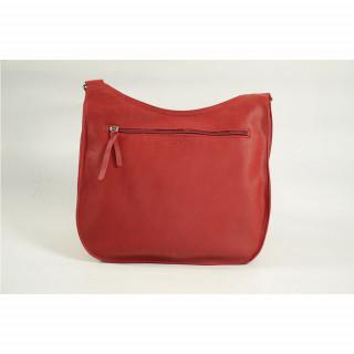 Sac porté travers en cuir pour femme couleur rouge