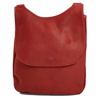 Sac à dos femme en cuir rouge