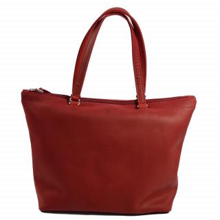 sac shopping femme en cuir rouge