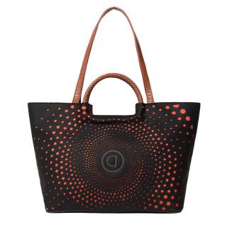 Desigual Holbox Sac Shopping Geometric Spiral Negro