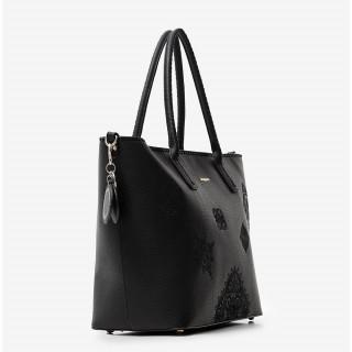 Desigual Holbox Sac Shopping Brodé Mandalas Negro