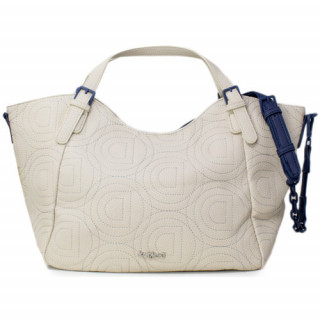 Desigual Rotterdam Sac Shopping Logomania Patch Beige