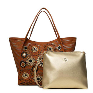 Desigual Allegreto Sac Shopping 2 en 1 Camel
