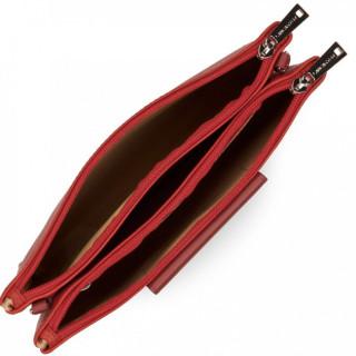 Lancaster Maya Sac Pochette 517-27 Rouge Rose Carmin ouvert
