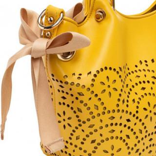 Lollipops F Damma Sac A Main Shopper M et Pochette Jaune details