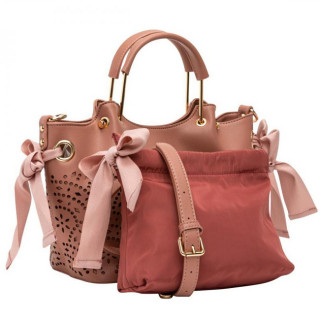 Lollipops F Damma Sac A Main Shopper M et Pochette Rose cote