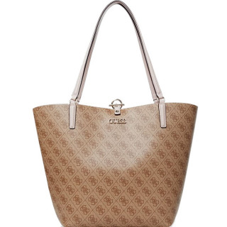 Guess Alby Sac Shopping et Pochette Reversible 2 en 1 Brown Blush BNB