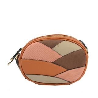 sac femme rond marron