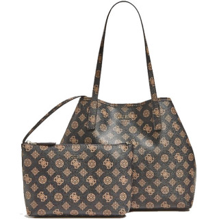 Guess Vikky Sac Shopping et Pochette 2 en 1 Brown