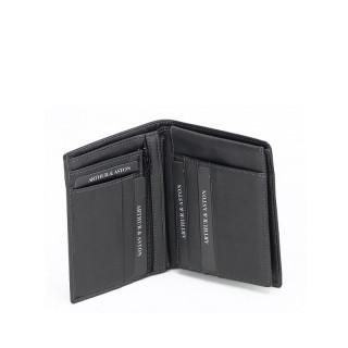 Mini portefeuille en cuir pour homme couleur noir