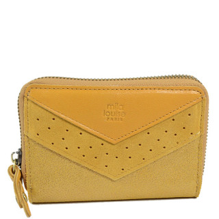 Mila Louise Pat portefeuille Cuir Mustard