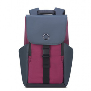 "Delsey Secureflap Sac à Dos PC 15.6"" Bordeaux"