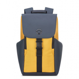 "Delsey Secureflap Sac à Dos PC 15.6"" Jaune"