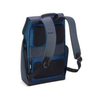 "Delsey Secureflap Sac à Dos PC 15.6"" Bleu Marine"