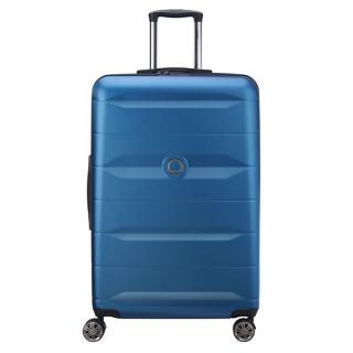 Delsey Comete Valise Trolley 4 Double Roues 77cm Bleu Clair