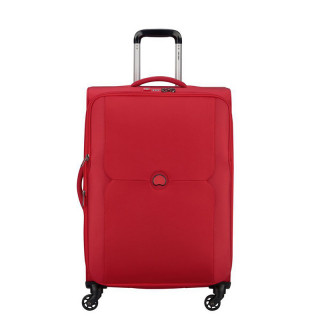 Delsey Valise Extensible Trolley 4 Roues 70 CM Rouge