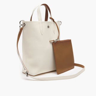 Lacoste Sac Cabas Reversible Vertical Anna Marshmallow Otter