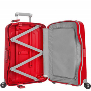 valise rigide cabine Samsonite rouge