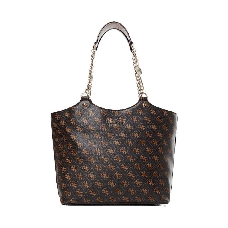 Guess Lorenna Sac Shopping Epaule Brown