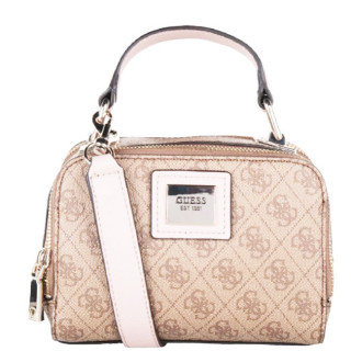 Guess Candace Mini Sac Porté Main et Bandouliere Logo 4G Brown Multi