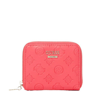 Guess Logo Love Portefeuille Compact Hibiscus