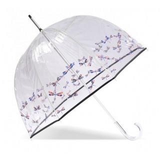 Isotoner Parapluie Droit PVC Manuel Libellule