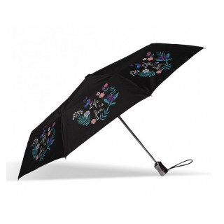 Isotoner Parapluie Pliant Automatique X-TRA Solide Life Is Fun
