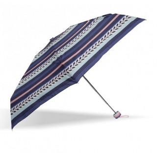 Isotoner Parapluie Mini Pliant Rayure Lys