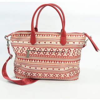 Lancaster Actual Ethenic Sac Shopping 518-67 Rouge
