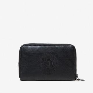 Desigual Melody Mini Porte-monnaie Fleuri Noir