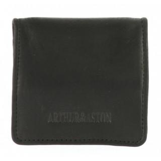Arthur et Aston Louis Porte Monnaie Cuir Gras 94-582 Noir
