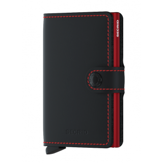 Secrid Porte-Carte Miniwallet Matte Black Red